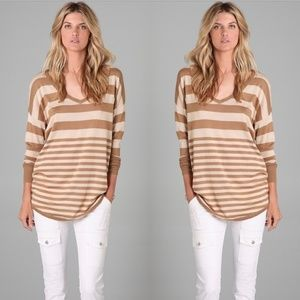 Joie Chyanne Wool Cashmere Blend Striped Sweater